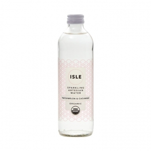 Isle Organic Sparkling Artesian Water W/MEL & CUC 350ml x 12