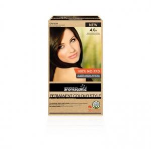 Aromaganic 4.0N Medium Brown (Natural) Hair Colour 200g