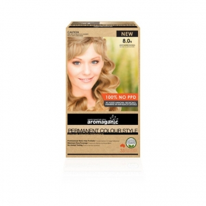 Aromaganic 8.0N Light Blonde (Natural) Hair Colour 200g