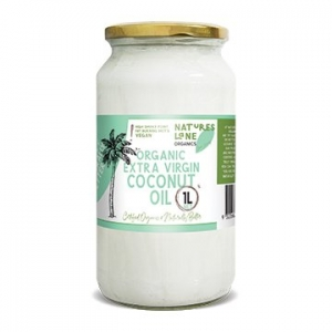 Natures Lane Organics Coconut Oil Glass Jar 1ltr