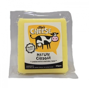 She's Cheese Mature Cheddar 185g x 6