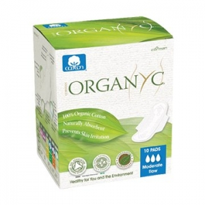 OYC Organic Ultra Thin Pads Moderate Wings 10's