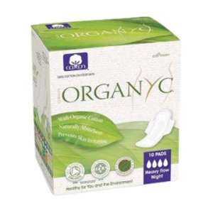 OYC Organic Ultra Thin Pads Heavy Wings 10's