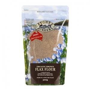 Stoney Creek Organic Brown Flax Flour 500g