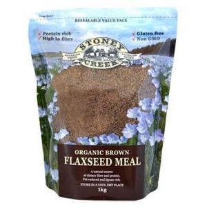 Stoney Creek Organic Flaxseed Meal Brown 1kg