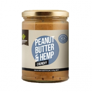 Grounded Peanut and Hemp Spread CRUNCHY 375g