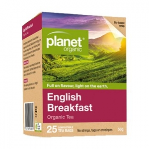 Planet Organic English Breakfast Tea 25t-bags