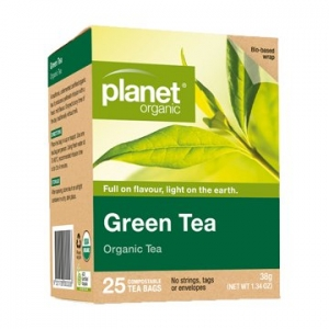 Planet Organic Green Tea 25t-bags