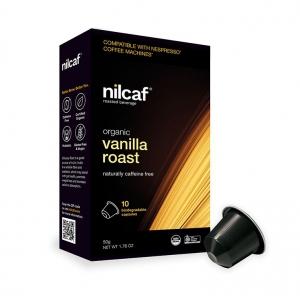 Nilcaf Caffeine Free Organic Vanilla Roast 5g Capsules x 10