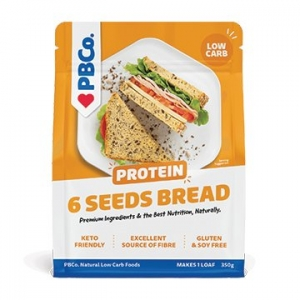PBCo Protein Bread Mix - 6 Aust Seeds 350g YELLOW LABEL