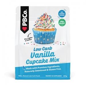 PBCo Simply Low Carb Vanilla Cupcake Mix 260g