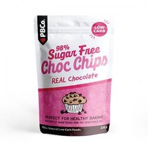 PBCo 98% Sugar Free Choc Chip 220g