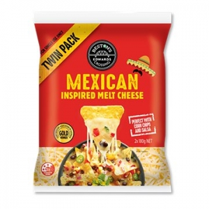 Edwards Crossing Mexican Inspired Mozzarella Cheese Twin Pack  (180g x 2) x 6