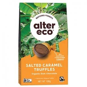 Alter Eco Organic Truffles - SALTED CARAMEL 108g x 5