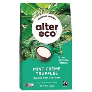 Alter Eco Organic Truffles - MINT 108g x 5