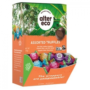Alter Eco Organic Truffle Counter Display MEDLEY (4 Flavours) 12g x 60