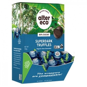 Alter Eco Organic Vegan Truffle Counter Display - SUPER DARK 12g x 60