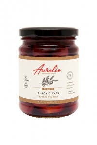 Aurelio Organic Black Olives FENNEL + LEMON 240g