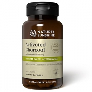 Natures Sunshine Activated Charcoal 100caps