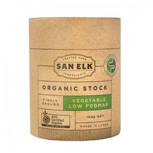 San Elk Organic Vegetable Stock Low Fodmap 160g