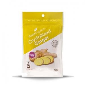 Ceres Organic Ginger Crystallised 125g