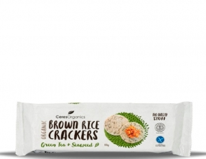Ceres Organic Brown Rice Crackers Seaweed 115g x 12