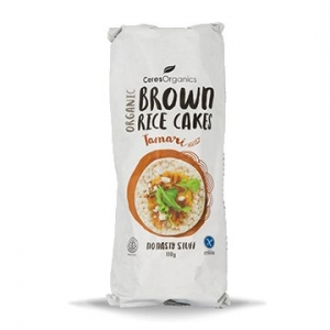 Ceres Organic Brown Rice Cakes Tamari 110g x 12