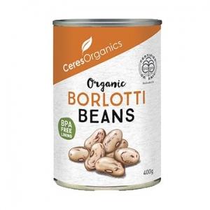 Ceres Organic Borlotti Beans 400g Can