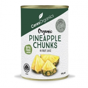 Ceres Organic Pineapple Pieces in Juice Can 400g