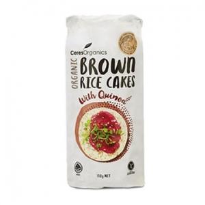 Ceres Organic Brown Rice Cakes with Quinoa 110g x 12