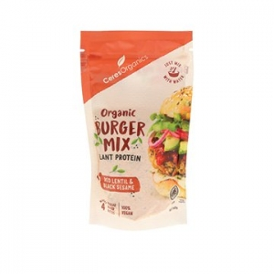 Ceres Organic Burger Mix LENTIL + BLACK SESAME 320g