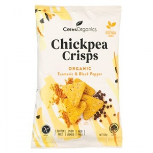 Ceres Organic Chickpea Crisps TURMERIC + BLACK PEPPER 100g x 5