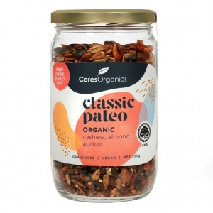 Ceres Organic Classic Paleo Breakfast Mix Cashew Almond Apricot Muesli GLASS JAR