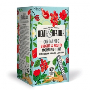 Heath and Heather Organic Bright and Fruity Morning Time 20 Tea Bags