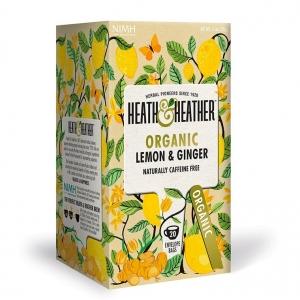 Heath and Heather Organic Lemon & Ginger 20t-bags