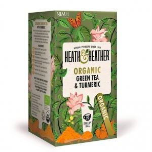 Heath and Heather Organic Green Tea and Turmeric 20 Tea Bags