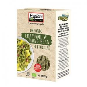 Explore Cuisine Bean Pasta EDAMAME MUNG BEAN FETTUCCINE 200g
