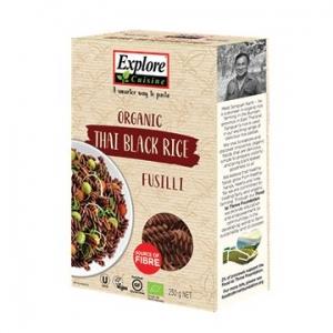 Explore Cuisine Organic Thai Black Rice Fusilli 250g