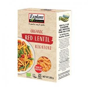 Explore Cuisine Organic Red Lentil Rigatoni 250g