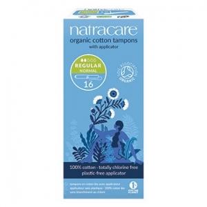 Natracare Organic Cotton Tampons with Applicator Regular 16pk