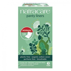 Natracare Organic Cotton Panty Liners Normal 18pk
