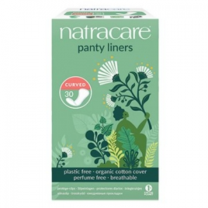 Natracare Organic Cotton Panty Liners Curved 30pk