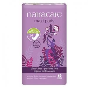 Natracare Organic Cotton Maxi Pads Regular 14pk