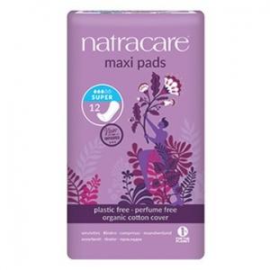 Natracare Organic Cotton Maxi Super 12pk