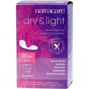 Natracare Organic Cotton Dry & Light Incontinence Pads Slim 20pk