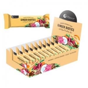 Nutra Organics  Ginger Biotics Exotic Jamu Bar 45g x 12