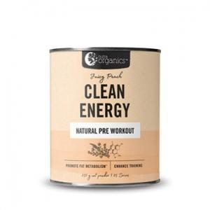 Nutra Organics Clean Energy Pre Workout Juicy Peach 250g
