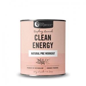 Nutra Organics Clean Energy Pre Workout Raspberry Lemonade 250g
