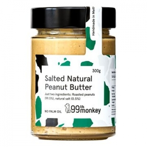99th Monkey SALTED Natural Peanut Butter 325g