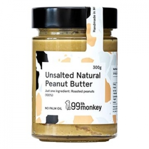 99th Monkey UNSALTED Natural Peanut Butter 325g